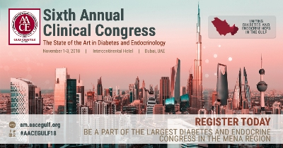 American Association of Clinical Endocrinologists' Sixth Annual Clinical Congress at the Intercontinental Hotel in Dubai Festival City, United Arab Emirates on November 1-3, 2018.