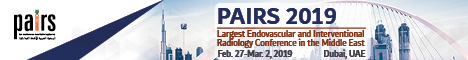 Pan Arab Interventional Radiology Society (PAIRS), Grand Hyatt Dubai, UAE on February 27-Mar. 2, 2019