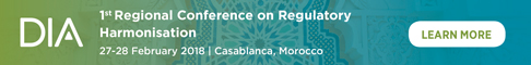 DIA | 1st Regional Conference on Regulatory Harmonisation | 27-28 February 2018 | Casablanca, Morocco