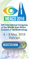 XII International Congress of the Middle East Africa Council of Ophthalmology |  May 4-8, 2016 | Manama, Bahrain