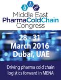 Middle East Pharma Cold Chain Congress | 28-31 March 2016 | Dubai, UAE