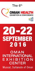 6th edition of Oman Health Exhibition & Conference | 20-22 September, 2016 | Muscat, Oman