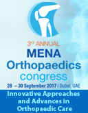 MENA Orthopaedics Congress | 28-30 September 2017 | Dubai, UAE